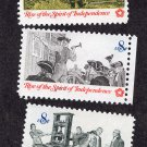 Rise of the Spirit of Independence Postage Stamps, Colonial Communication, Vintage