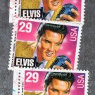 Elvis Presley Commemorative Postage Stamps, Music, Rock & Roll, USPS, 1993, 29c, Used