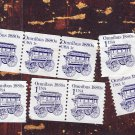 Omnibus 1880s Postage Stamps Transportation Series, Re - Engraved Coil, 1c