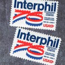 Postage Stamps Interphil '76 Scott No. 1632, NH, OG, Two Singles