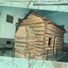 Lincoln Birthplace Log Cabin, Hodgenville, Kentucky Vtg Postcard, Historic House