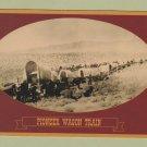 Kansas History Postcard PIONEER WAGON TRAIN