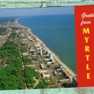 Greetings From Myrtle Beach, South Carolina Aerial View, Chrome Postcard