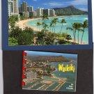 Waikiki Postcard & Booklet Set, Full Color, Honolulu, Hawaii, Scenic, Beach