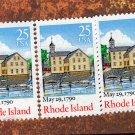 Rhode Island Vintage Postage Stamps 3 Singles, Bicentenary Statehood, 1987