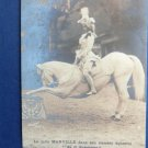 Marie Marville, Actress, Equestrienne, Riding, Horse Postcard, Perform
