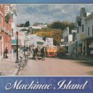 Mackinac Island Postcard Street Scene Horses Unposted