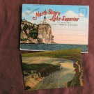 Lake Superior North Shore Fold-Out Postcard Folder Caribou Falls, Lighthouse