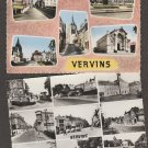 Vervins (Aisne) France Postcard Old Historic Buildings Street Scenes Churches