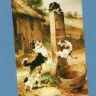"""Baffled"" Vintage Humorous Dog & Ct Postcard, Restaurant Advertising"