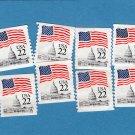 22c U.S. Flag Over Capitol Building Postage Stamps 1984 Regular Issue, Scott 2115
