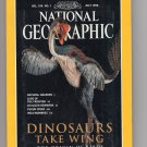 Dinosaurs Take Wing, National Geographic Magazine, Origin of Birds, Yukon River