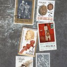 Six Poland Postage Stamps, Musical Instruments, Szymanowski, Smoniuszko