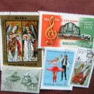 Hungary Postage Stamps, Assortment of 5, Colorful, Magyar Posta, Variety