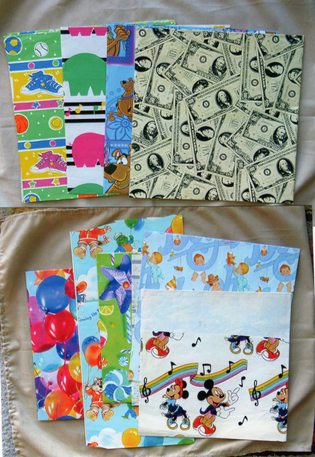 Gift Wrap Assortment, Scooby-Do, Birthday, Baby Boy, Wedding, Paper, Various Sizes