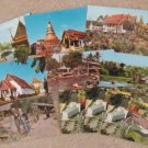 Thailand Postcards Historic Buildings, Pagodas, Temple, Boats, Palace