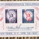 Fifth International Philatelic Exhibition New York 1956 Miniature Souvenir Sheet FIPEX