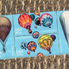 Block of 4 Hot Air Balloons Postage Stamps, Aviation Commemoratives, Dirigibles