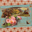 Friendship's Remembrance Old Antique Embossed Postcard With Flowers