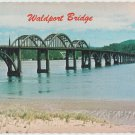 Postcard WALDPORT BRIDGE Oregon Alsea Bay