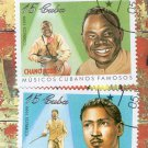 Famous Cuban Musicians Postage Stamps, Used, VF, Musicos Cubanos Famoses