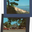 Vintage Chrome Postcards U.S. Scenic Michigan, Dunes Mobile Rides, Traverse City State Park