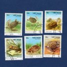 Turtle Postage Stamps Vintage From Viet Nam (Asia) Reptiles, Fauna