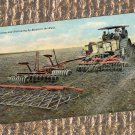 Farming Vintage Postcard, Disking & Harrowing In The West, Tractor, Farm Equipment