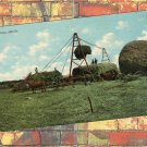 Stacking Alfalfa Vintage Postcard Farming Equipment Haying Ranching