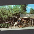 Stage Coach Station, Jackson Hole, Wyoming Vintage Postcard, Chrome, Horses