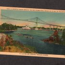 St. Lawrence River Bridge, SS Kingston, Thousand Islands, U.S., Canada Postcard