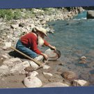 The Old Miner Vintage Full Color Postcard, Panning For Gold, Western, Used