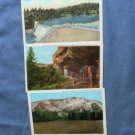 Colorado Scenic Postcards, Mesa Verde, Evergreen Lake, Crater Mountain