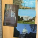 Four Washington DC Postcards Lincoln Memorial White House Capitol Dome Monument