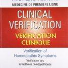 Clinical Verification: Verification of Homeopathic Symptoms [Paperback] [Apr