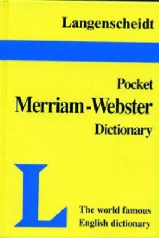 Langenscheidt's Pocket Merriam-Webster Dictionary English [Turtleback] [Feb