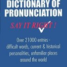 Dictionary Of Pronunciation: Say It Right [Paperback] NORMAN LEWIS