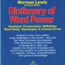 Dictionary Of Word Power [Paperback] NORMAN LEWIS