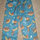 NWT/NEW Nick&Nora Sock Monkey Sleep Pants Size 4T CUTE!