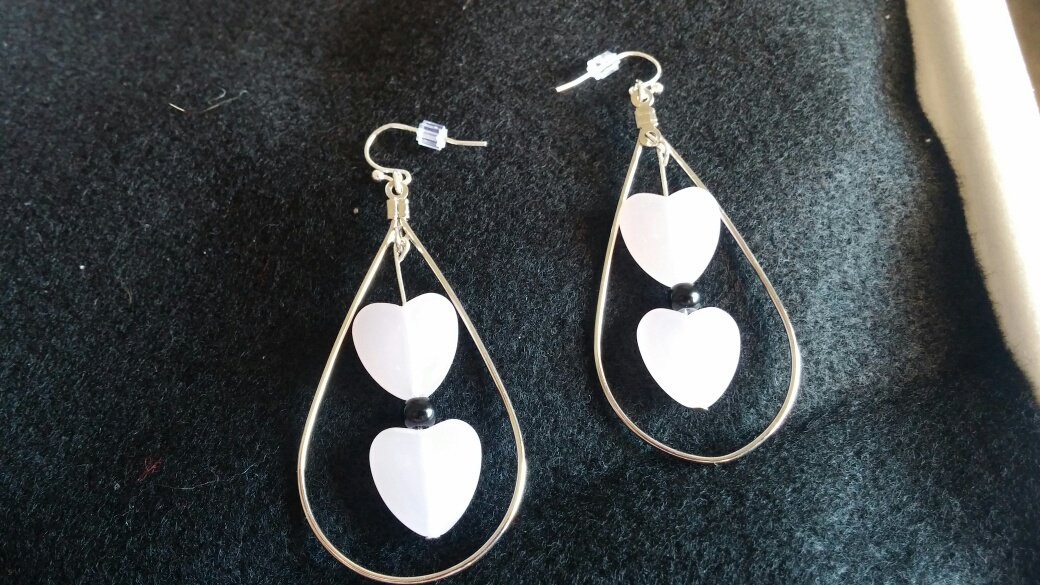 Tear Drop/Heart Earrings