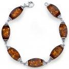 Sterling Silver Baltic Amber Gallery Bracelet