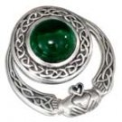 Sterling Silver Celtic Claddagh Pendant Slider