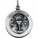 Sterling Silver Holy Communion Medal