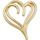 14K Gold Heart Pendant in Yellow or White Gold