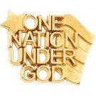 "14K Gold ""One Nation Under God"" Lapel Pins"