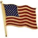 14K White or Yellow Gold American Flag Pin - Large