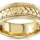 Men's 14K Yellow Gold 8mm Braided Rope Wedding Band