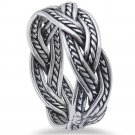 Sterling Silver Plain Oxidized Infinity Band Ring