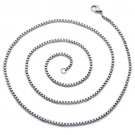 """Stainless Steel 3mm Box Chain - 24"""" Long"""