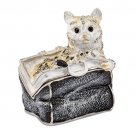 Bejeweled Miss Kitty In Purse Trinket Box
